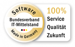 factro Zertifikat des Bundeverbands IT-Mittelstand 100% Service Qualität und Zukunft