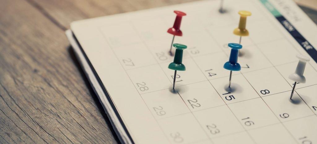 Zeitplanung mit einem Kalender