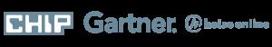 Die Logos von CHIP, Gartner und heies online