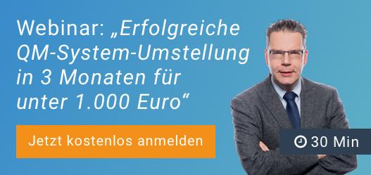 Ein Banner für die Umstellung des QM-Systems auf ISO 9001:2015