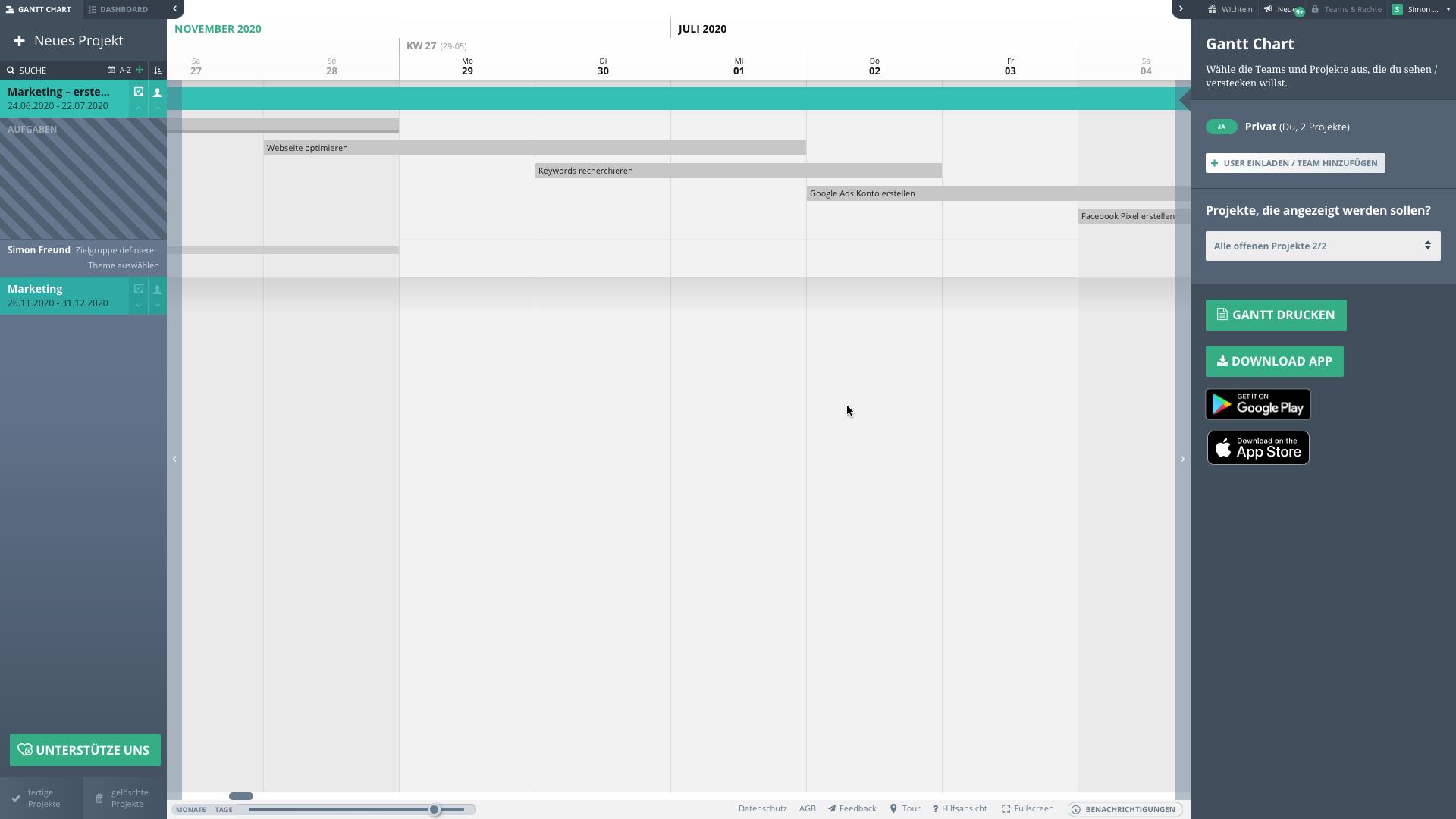 Ein Screenshot des Tools Agantty