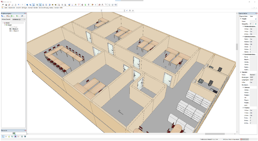 Screenshot der Software DDS-CAD DDS