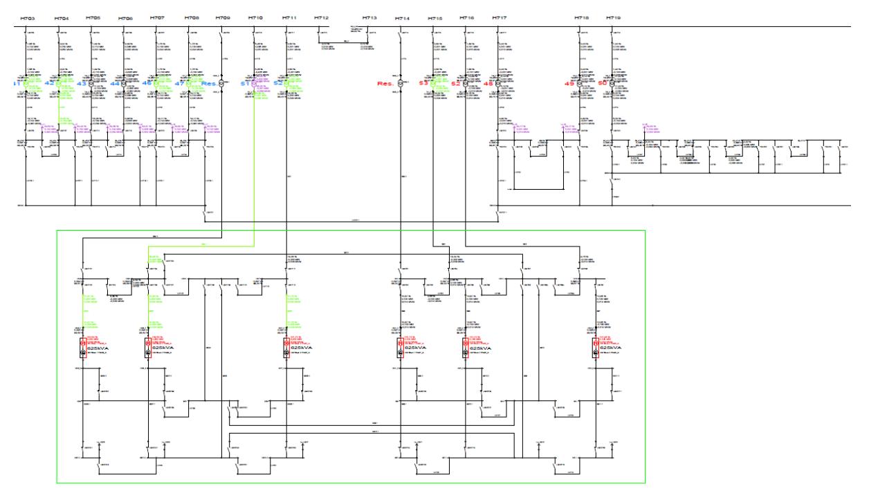 Abbildung einer Netzstruktur in ELAPLAN